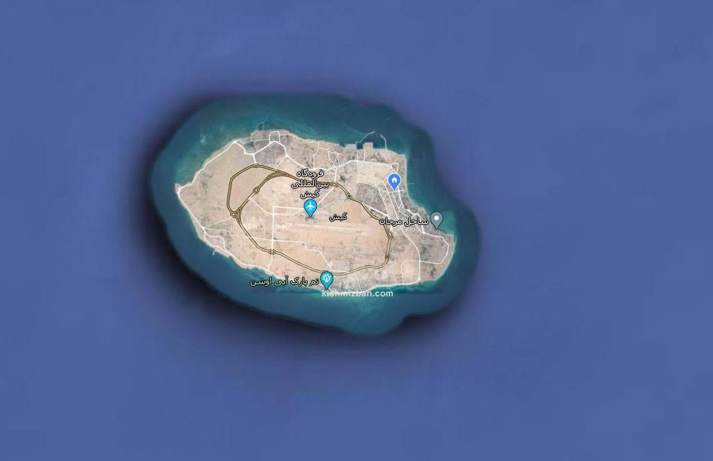 جزیره کیش از نمای بالا